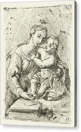 Madonna With Child, Louis Bernard Coclers Acrylic Print