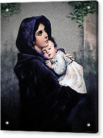 Acrylic Print featuring the painting Madonnina by A Samuel