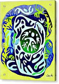 Madre Protectora Acrylic Print by Sarah Loft