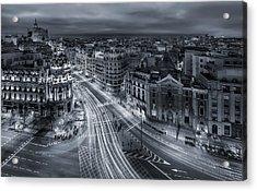 Madrid City Lights Acrylic Print