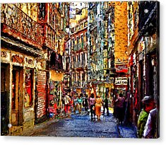 Madrid Lookers 2 Acrylic Print by Cary Shapiro