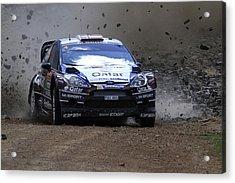 Mads Ostberg Fia World Rally Championship Australia Acrylic Print by Noel Elliot
