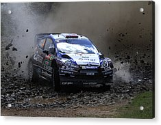 Mads Ostberg Fia World Rally Champonship Australia Acrylic Print by Noel Elliot
