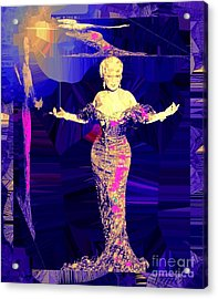 Mae West. Ladies Embrace Your Curves Acrylic Print
