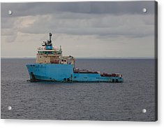 Acrylic Print featuring the photograph Maersk Transporter by Gregory Daley  PPSA