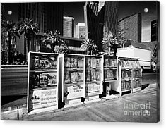 magazine stands free coupons guides and escort directories Las Vegas Nevada USA Acrylic Print by Joe Fox