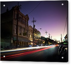 Magazine Street Sunset In Uptown Nola Acrylic Print by Ray Devlin