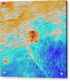 Magellanic Clouds Magnetic Field Acrylic Print by Planck Collaboration/esa