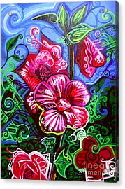 Magenta Fleur Symphonic Zoo I Acrylic Print