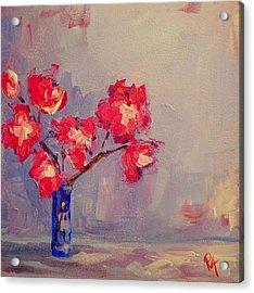 Magenta Flower Arrangement Acrylic Print by Patricia Awapara
