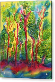 Acrylic Print featuring the painting Appreciation by Susan D Moody