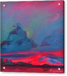 Magenta Landscape Acrylic Print by Patricia Awapara