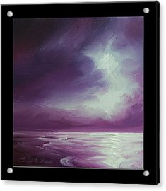 Magenta Moon Iv Acrylic Print by James Christopher Hill
