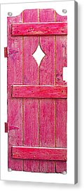 Magenta Pink Painted Garden Door Acrylic Print by Asha Carolyn Young