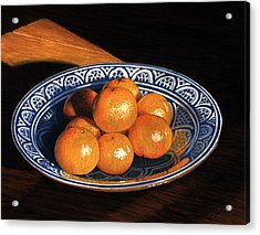 Maggie's Oranges Acrylic Print by Norm Holmberg
