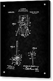 Magic - 1916 Knife Trowing Illusion Patent Acrylic Print by Barry Jones