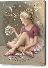 Magic Ballerina Acrylic Print by Beverly Levi-Parker