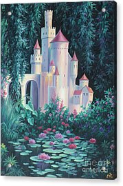 Magic Castle Acrylic Print by Vivien Rhyan
