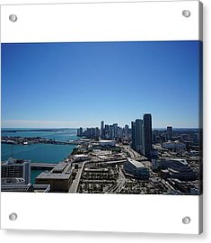 Magic City Skyline Acrylic Print