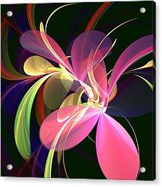 Magic Flower Acrylic Print by Anastasiya Malakhova