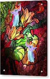 Magic Garden Acrylic Print by Mary Anne Ritchie