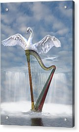 Magic Harp  Acrylic Print by Angel Jesus De la Fuente