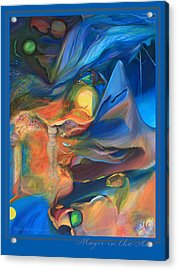 Acrylic Print featuring the painting Magic In The Air - With Border And Title by Brooks Garten Hauschild