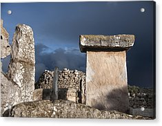 Bronze Edge In Minorca Called Talaiotic Age Unique At World - Magic Island 1 Acrylic Print by Pedro Cardona