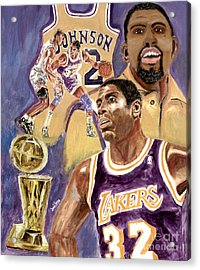 Magic Johnson Acrylic Print by Israel Torres