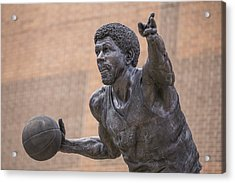 Magic Johnson Statue  Acrylic Print by John McGraw