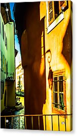 Magic Lantern On The Walls Of Annecy Acrylic Print by Jenny Rainbow