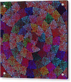 Magic Marbles Marvellous Colorful Pattern Spiral Sparkle Wonderland Kidsroom School Nursary Daycare  Acrylic Print by Navin Joshi