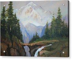 Magic Mountain Acrylic Print by Richard Hinger