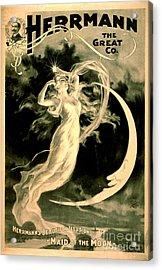 Magic Show Playbill 1898 Acrylic Print by Padre Art