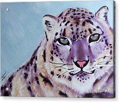 Magic Snow Leopard Acrylic Print by Inti Garcia