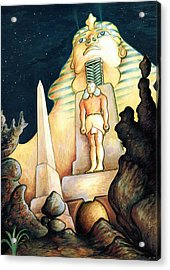 Magic Vegas Sphinx - Fantasy Art Painting Acrylic Print