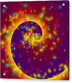 Acrylic Print featuring the painting Magic Spiral by Persephone Artworks