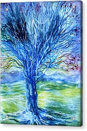 Magic Thorn Tree The Celtic Tree Of Life Acrylic Print by Trudi Doyle