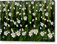Magical Blooms Of The Deep Forest Acrylic Print by Bedros Awak