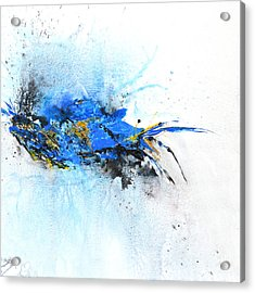 Magical Blue 1- Abstract Art Acrylic Print by Ismeta Gruenwald