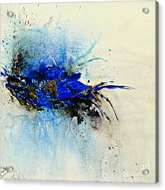 Acrylic Print featuring the painting Magical Blue-abstract Art by Ismeta Gruenwald