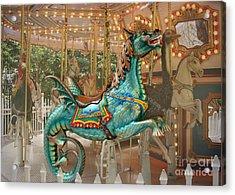 Magical Carousel Acrylic Print by Sabrina L Ryan