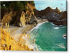 Magical Falls Of Mcway Waterfall At Julia Pfeiffer Burns State Park Acrylic Print by Jamie Pham