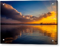 Magical Reflections Of Sundown Acrylic Print