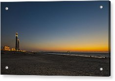 Acrylic Print featuring the photograph magical sunset moments at Caesarea  by Ron Shoshani