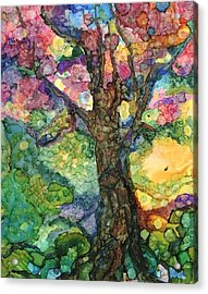 Magical Tree Acrylic Print by Lin Deahl