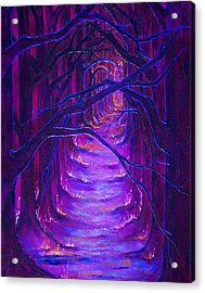 Magick Forest Acrylic Print by Luanna Swaney