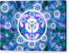 Acrylic Print featuring the drawing Magnetic Fluid Harmony by Derek Gedney