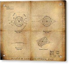 Magneto System Blueprint Acrylic Print