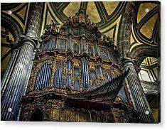 Magnificent Pipe Organ Acrylic Print by Lynn Palmer